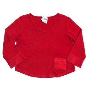 Vintage Lilly Pulitzer Red Ribbed Cropped Top Med